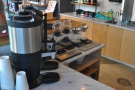 The bulk-brew is dispensed at the counter's left-hand end which is where you'll also find...