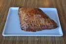 I got hungry before I left, so had a guava and cheese pastelito, served hot.