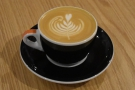 My flat white, with the Comfort beans, a washed Guatemalan.
