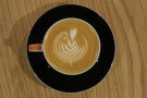 Nice latte art from Callum.
