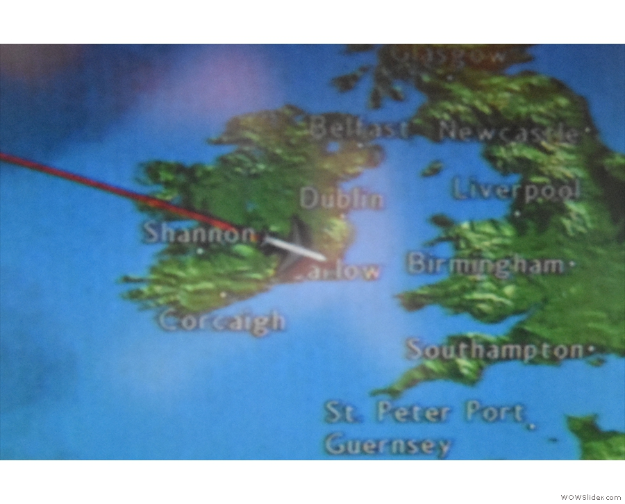 Getting closer now, crossing the east coast of Ireland...