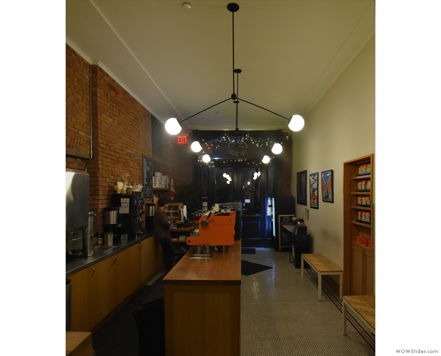The view back towards the front of Cafe Grumpy.