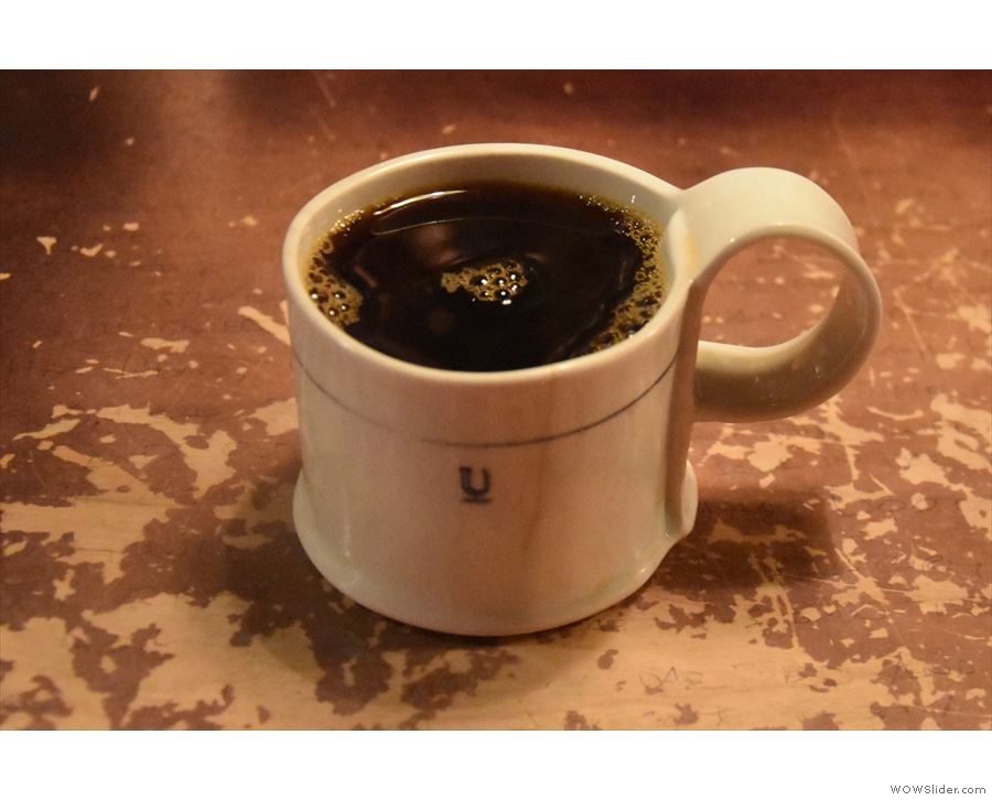 I also had a pour-over on my return in 2018, a Colombian geisha in an awesome mug.