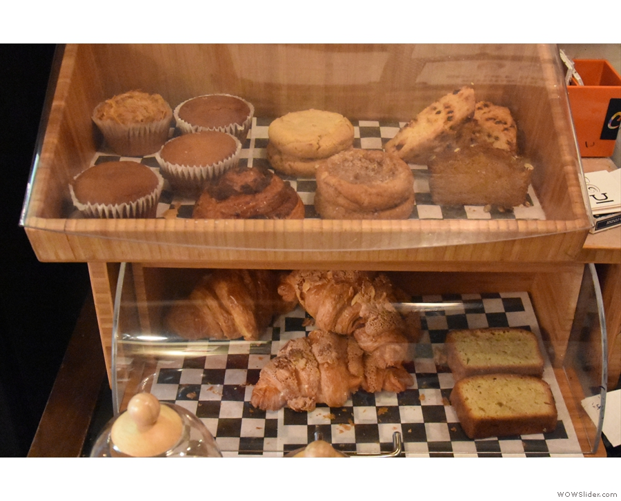 As well as the toast menu, Underline has a selection of cakes and pastries...