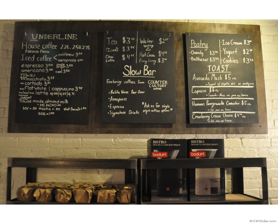 Although the form of the menu has changed, what's on offer is very similar.