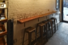 The bar against the wall, as seen from the back...