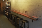 ... as is the narrow bar against the right-hand wall.