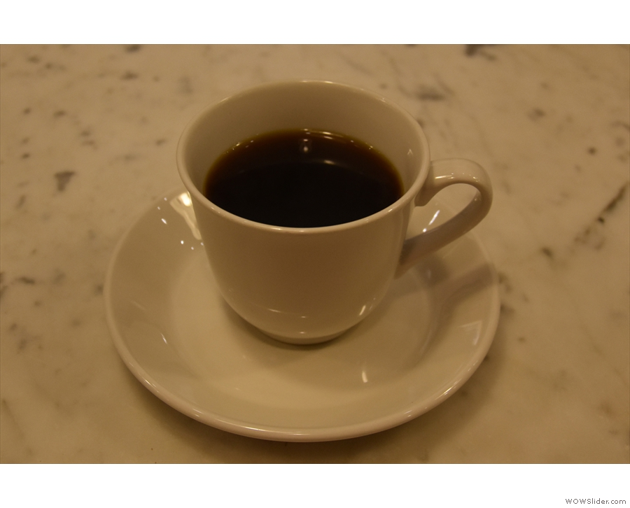 I began with the micro-lot from Honduras, a lovely, rich coffee, before moving to espresso.