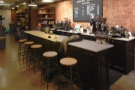 ... leaving enough room for this awesome counter and its five bar stools...