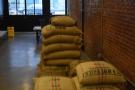 Obligatory sacks of green beans.