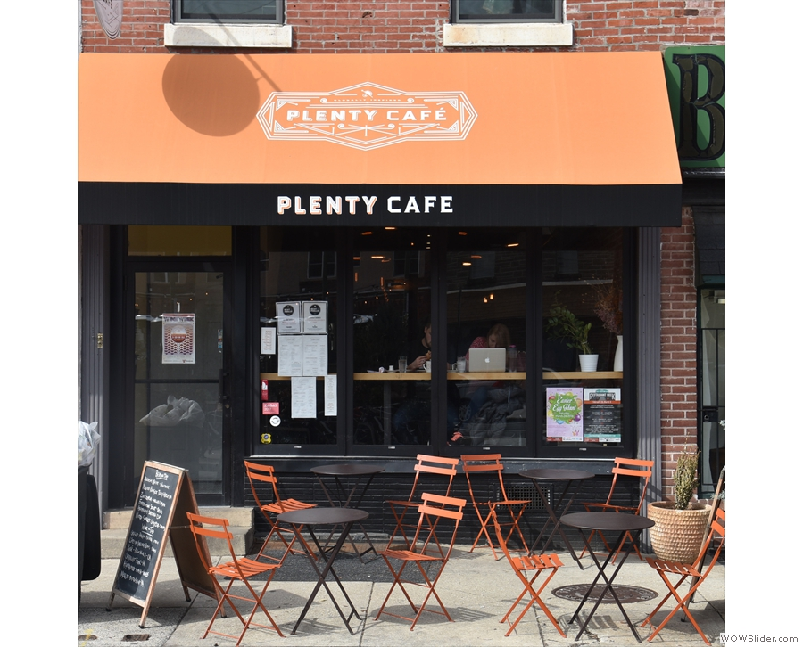 Fortunately, I was able to get a better shot of Plenty Cafe on my return in 2018.