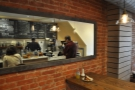 Other nice touches included this mirror on the wall at the back, opposite the counter...