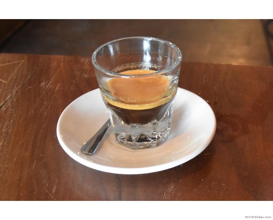 I love espresso served in a glass.