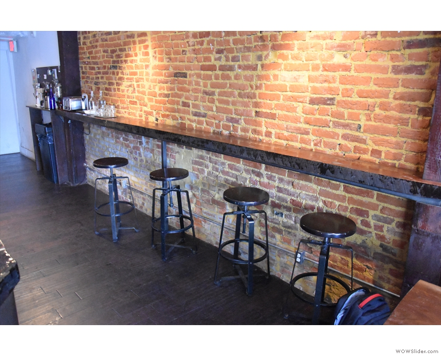 The bar, which provides useful overflow seating.