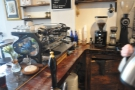 The espresso side of Peddler, from 2016. The La Marzocco Strada & its two grinders...