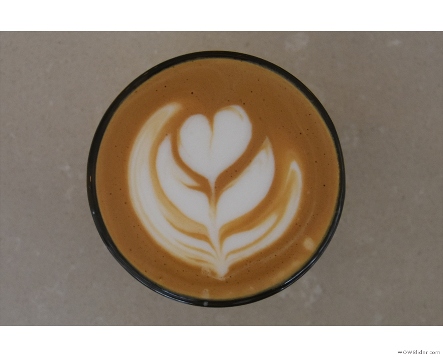 Lovely latte art from Max, one of the owners.