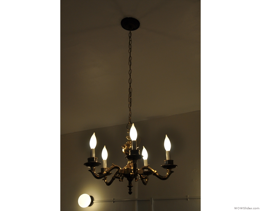 The chandelier was one of the back room's many highlights (pun intended).