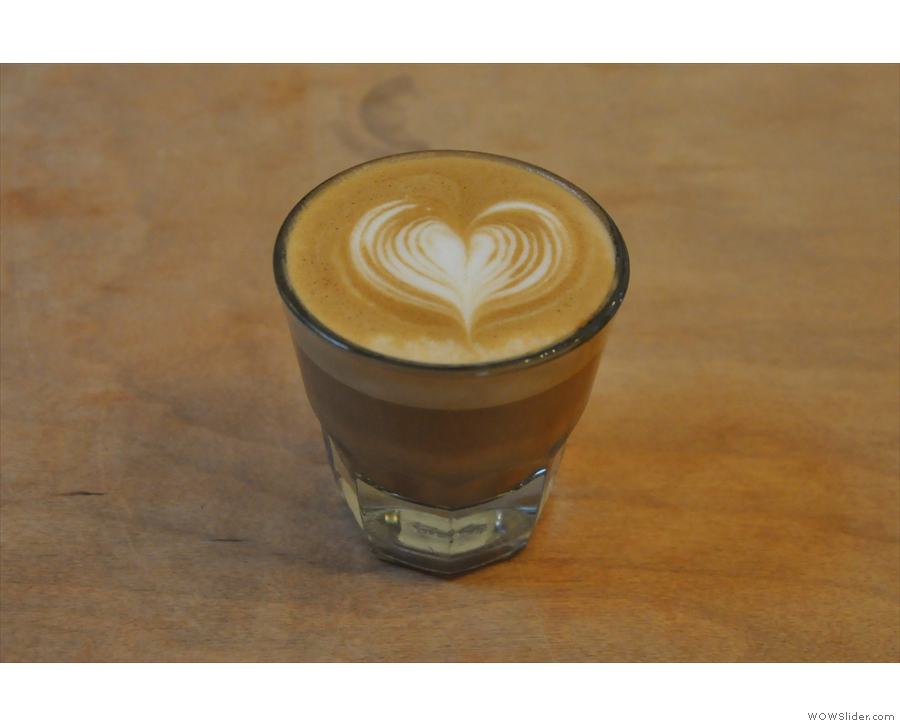 On my return in 2016, I had an equally good decaf Gibraltar, made by head barista, Nicole.