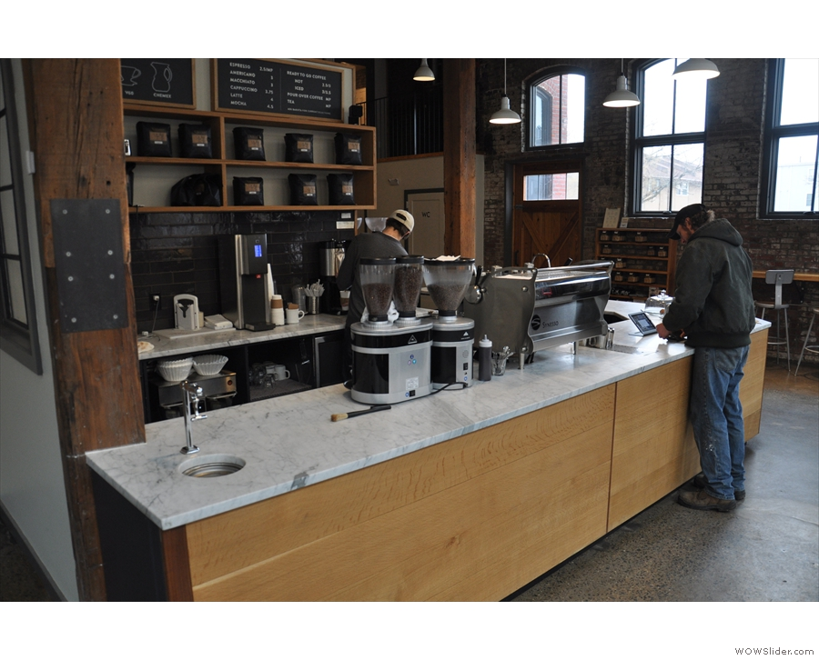 Another view of the counter, seen on my first visit in 2016.