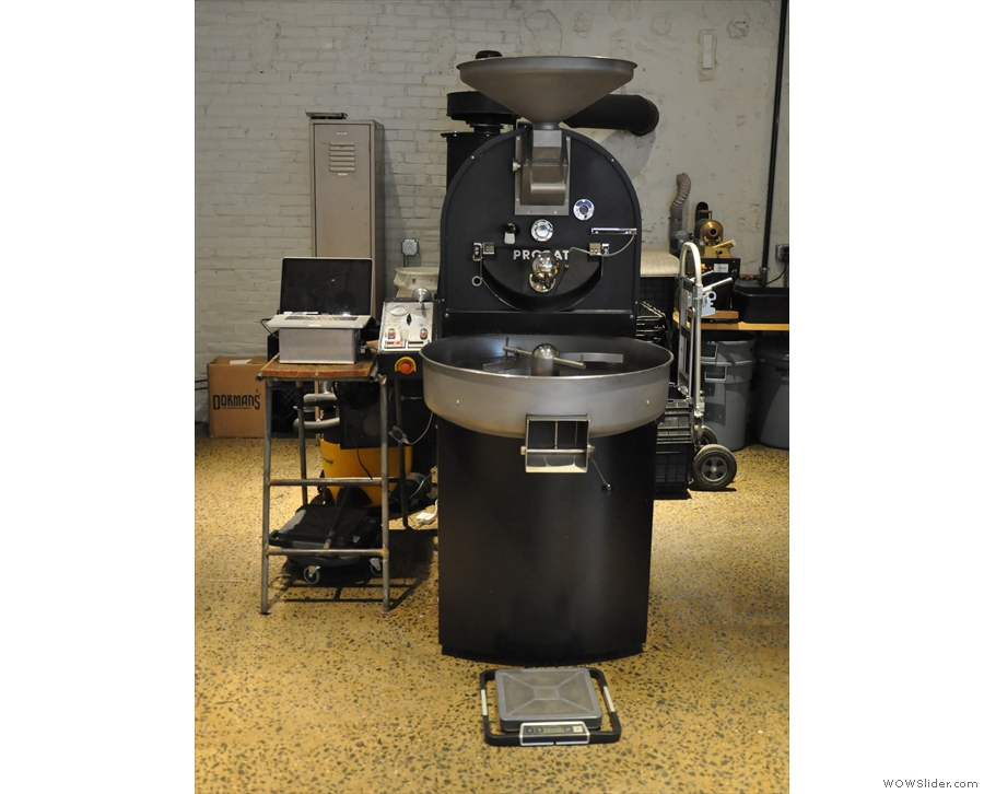 ... centred on this rather handsome Probat roaster.