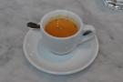 My espresso, in its classic white cup.