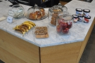 ... with the cakes and other snacks on the corner...