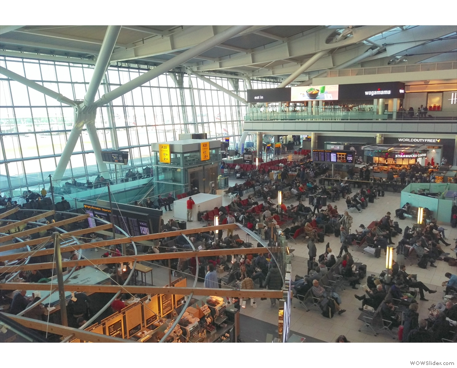 The flight down was quick and before I knew it, i was in the departures area of Terminal 5.