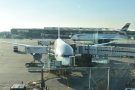 This is my plane, by the way, a Boeing 777, with a giant Airbus A380 trundling past.