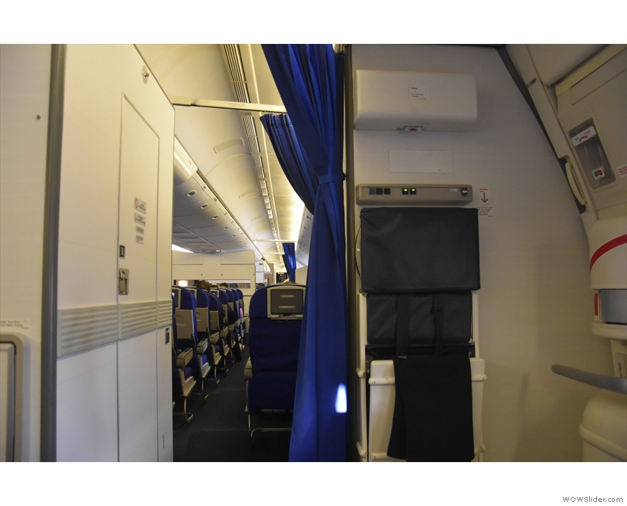 ... and not premium economy or business class. The door on the left is the crew quarters.