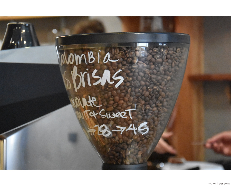 The Colombian from Methodical was in the hopper when I arrived, but that ran out...