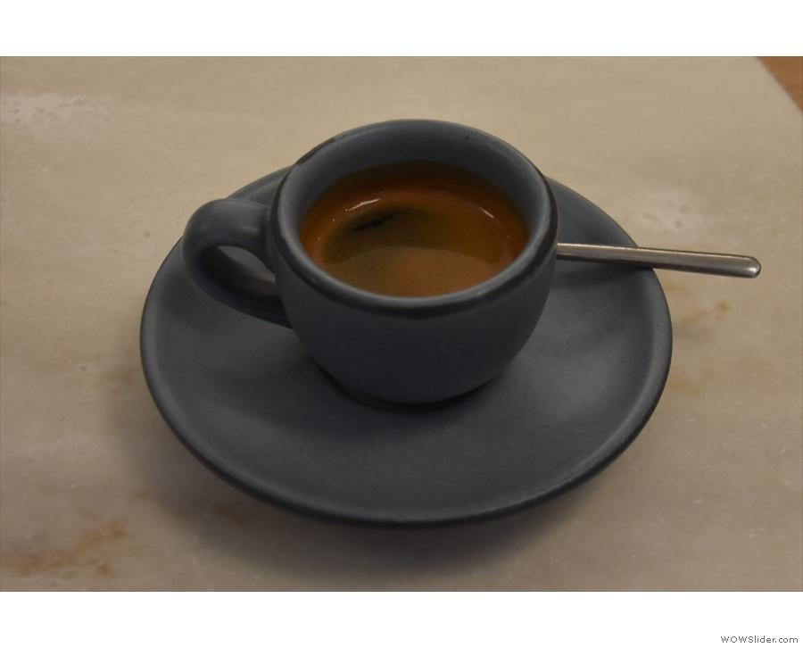 ... where I had the El Bosque single-origin espresso.