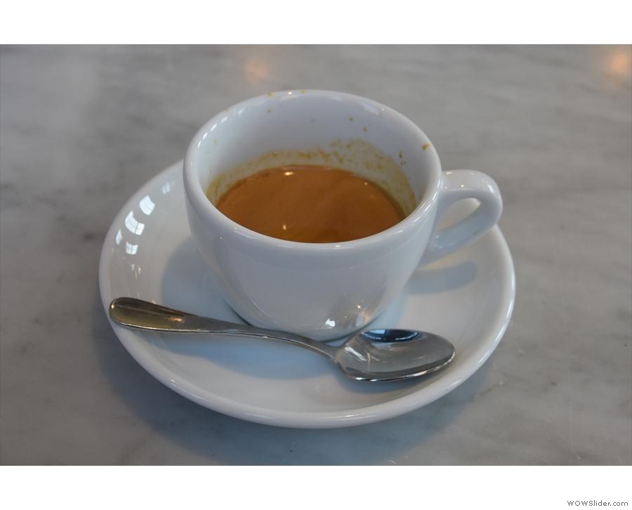 I started with the Rwandan Gatare single-origin as an espresso...