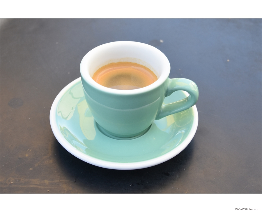 ... although I was going for an espresso, served in an equally nice cup.
