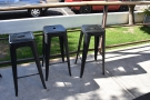 There's a handful of stools here as well, which completes the outside seating.