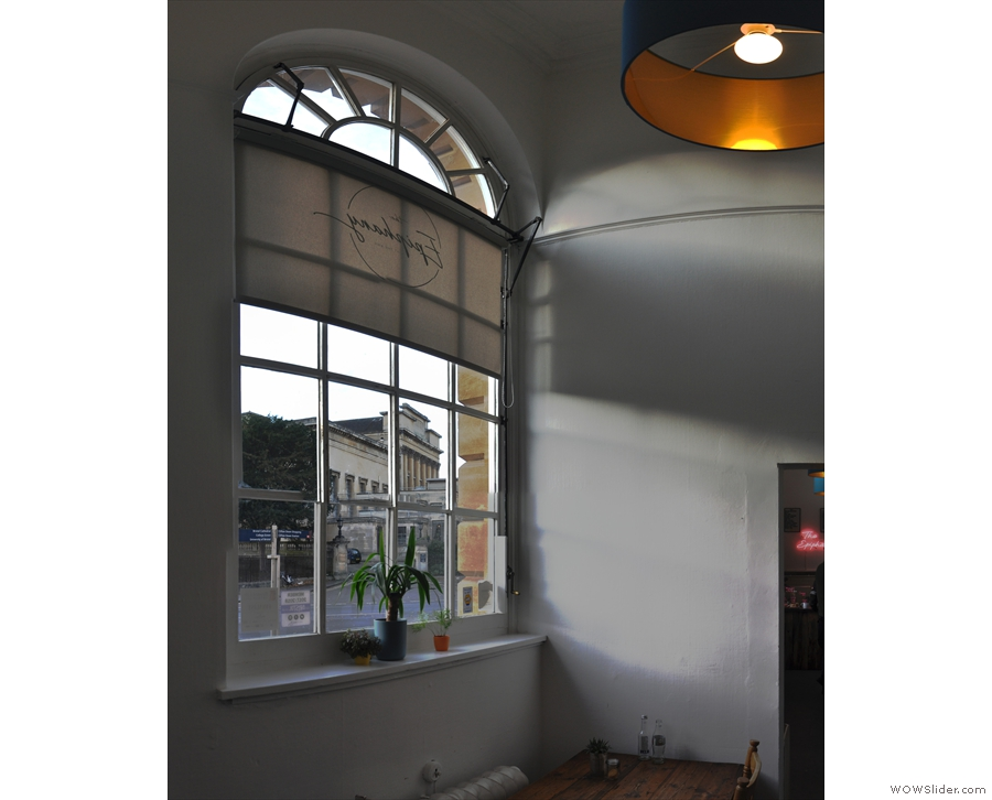 Downstairs is a really bright, airy space, helped by these magnificent windows.