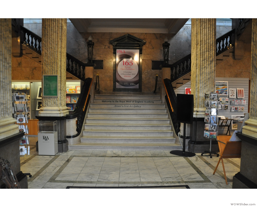 ... to the magnificent entrance foyer, then turn left and head up the stairs...