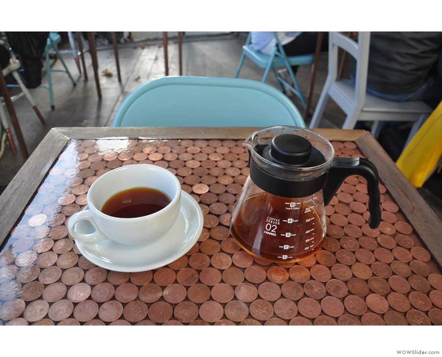 ... selecting this Rwandan single-origin through the Clever Dripper.