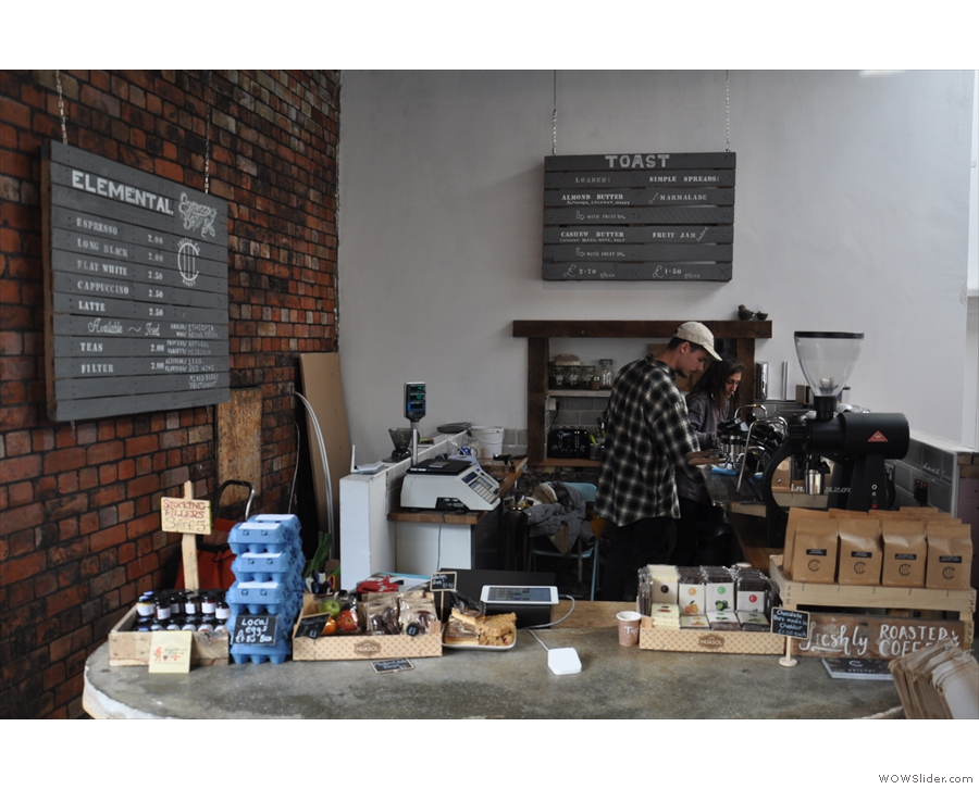 The final part of the operation is off to the left at the back: the Elemental Espresso Bar.