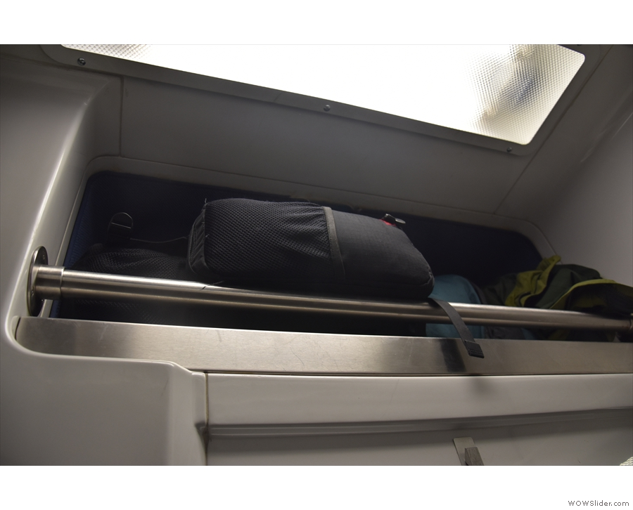 ... although there's more-than-adequate space for luggage above the door.