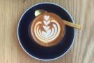 Impressive latte art in such a small glass!