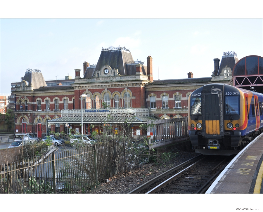 Arriving at Portsmouth & Southsea Station on the mainline from London Waterloo.