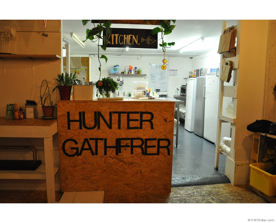 ... while right at the back is the Hunter Gatherer kitchen.