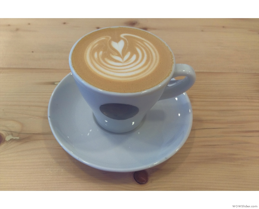 I started off with a flat white, made with Arboretum Blend from Dark Woods.