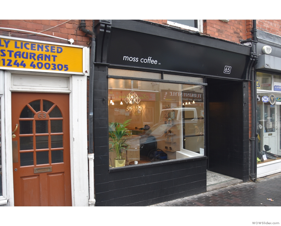 Chester's Brooke Street is home to the modest shop front of newcomer, Moss Coffee.