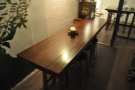 It starts with this long, communal table...