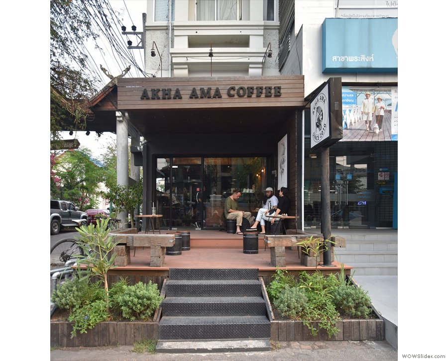 ... home to Akha Ama Coffee La Fattoria, with its broad, outside seating deck.