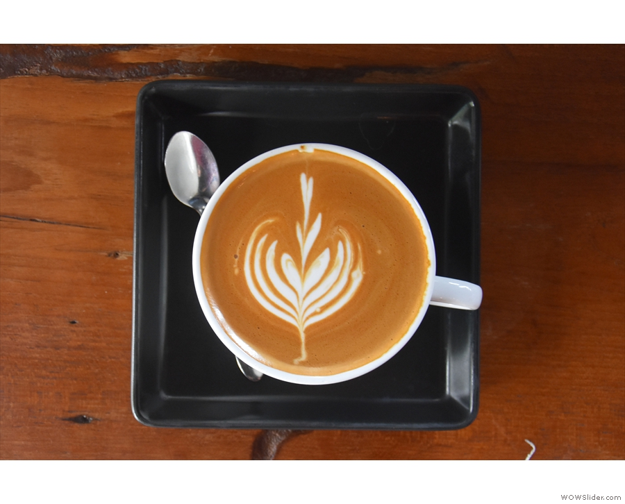 I'll leave you with my latte art. Lovely, isn't it?