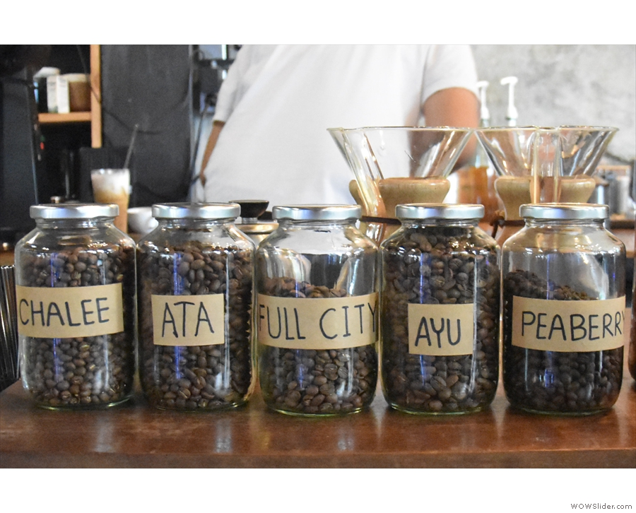 On my first visit, I went for a pour-over. There can be up to five beans to choose from.