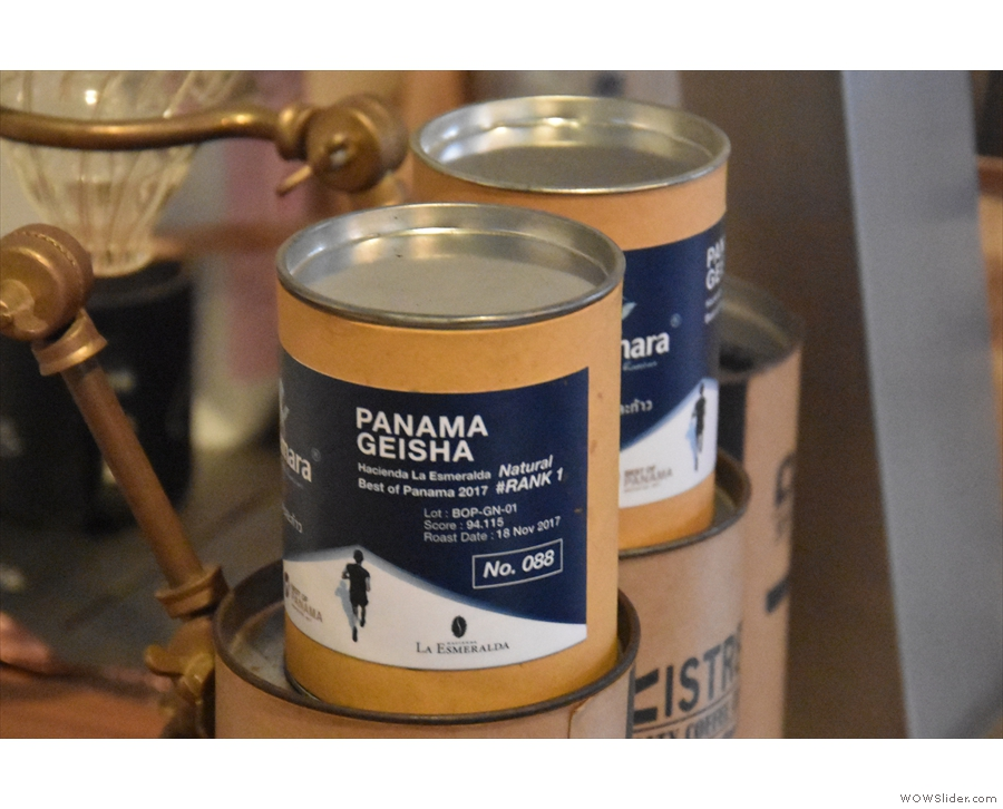 The current filter coffee option is a Panama Geisha, for example.