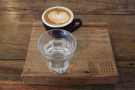 ... with water as well. Naturally, I had to have something with milk, settling on a cortado...